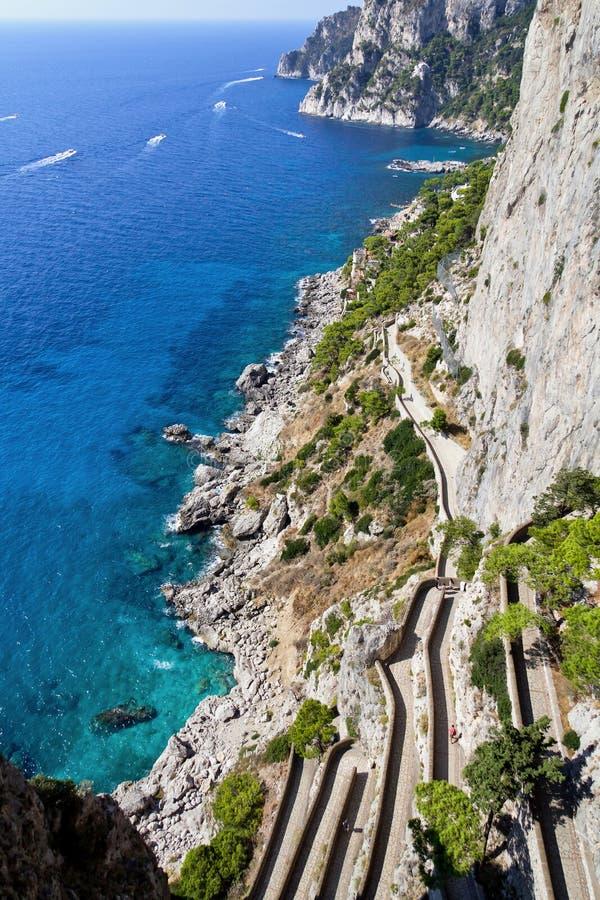 Capri Scala Fenicia fotografia stock libera da diritti