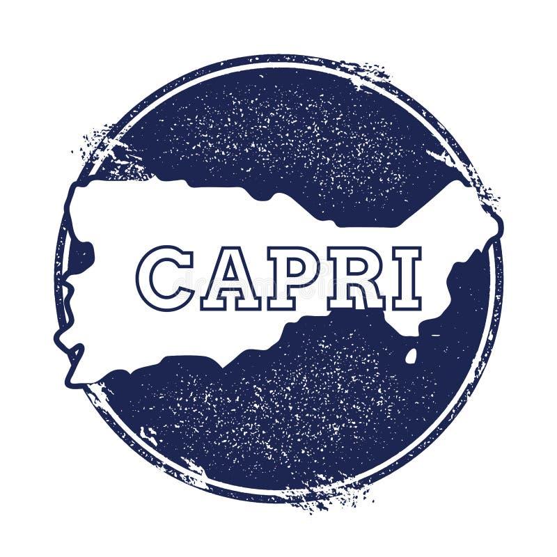 Capri vektoröversikt vektor illustrationer
