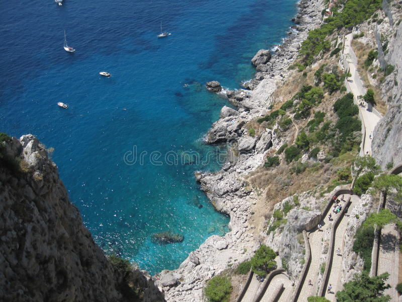 Capri- - Vista-insenatura 03 stockfotos
