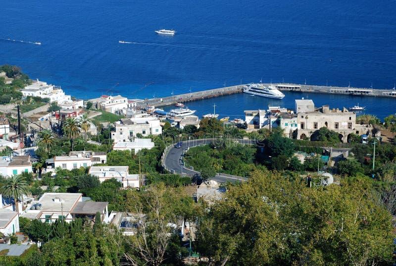 capri wyspy port zdjęcie stock