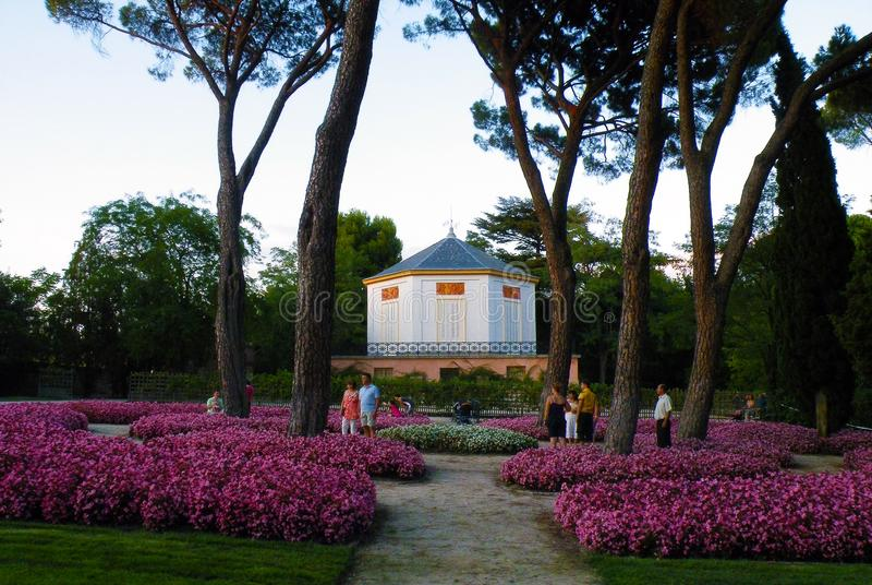 Capricho公园的庭院 库存图片