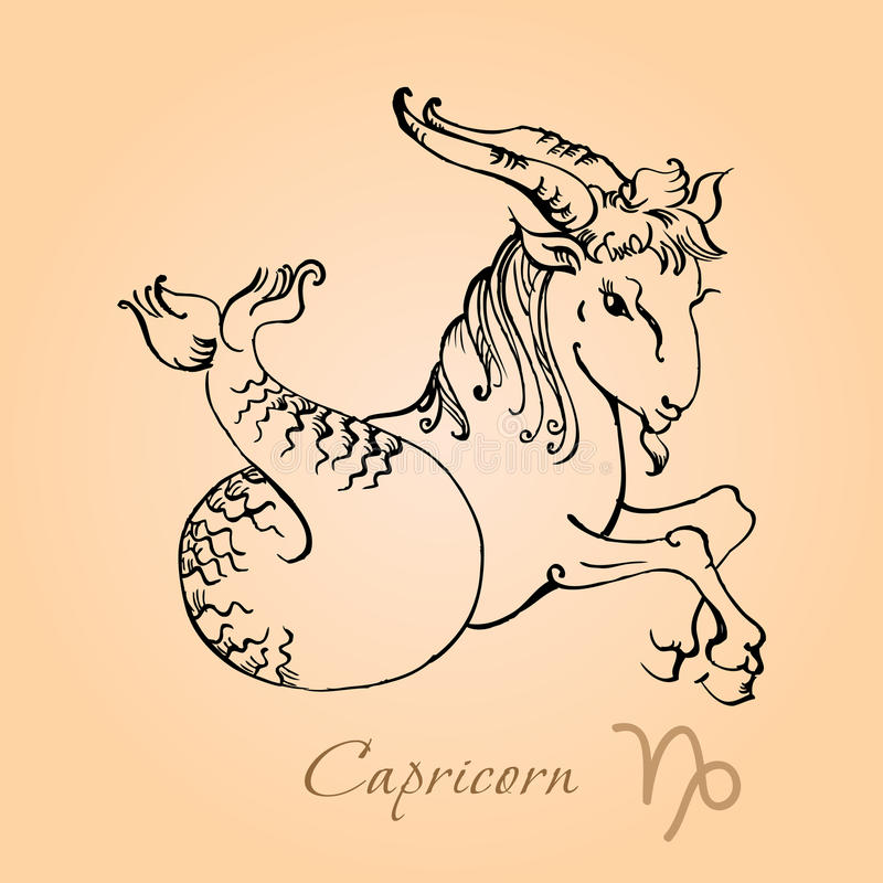 Capricorn illustrazione di stock