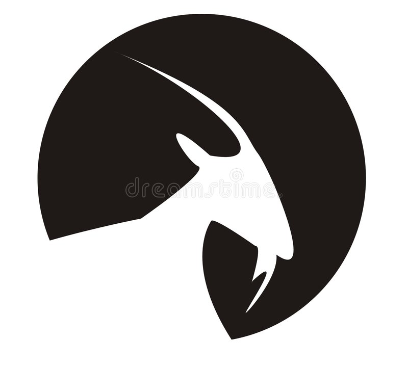 Capricorn. This is a picture of capricorn a sign in horoscope royalty free illustration