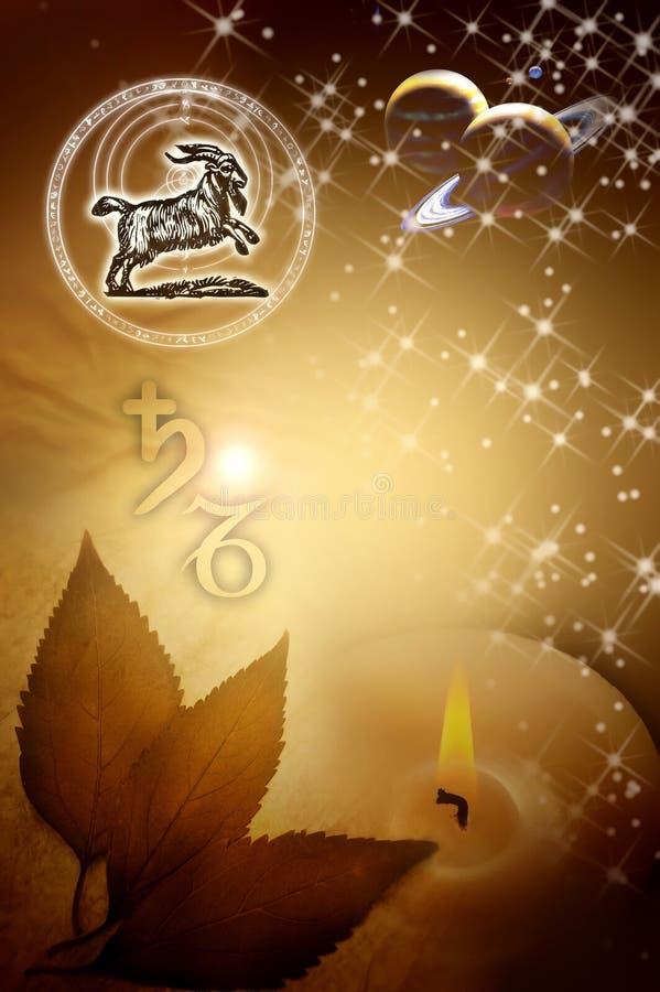 Capricorn astrologico del segno royalty illustrazione gratis