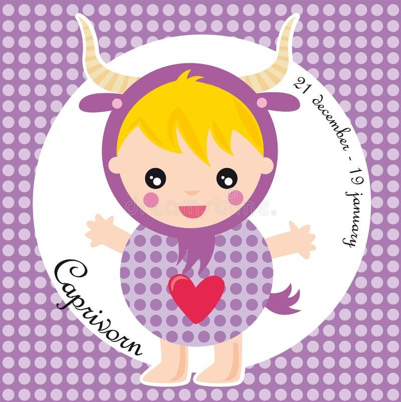 Capricorn dello zodiaco illustrazione vettoriale