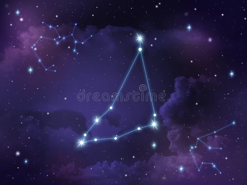 Capricorn gwiazdozbioru gwiazdy zodiak ilustracja wektor