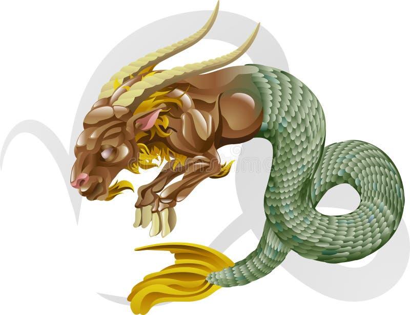 Capricorn the sea goat star sign vector illustration