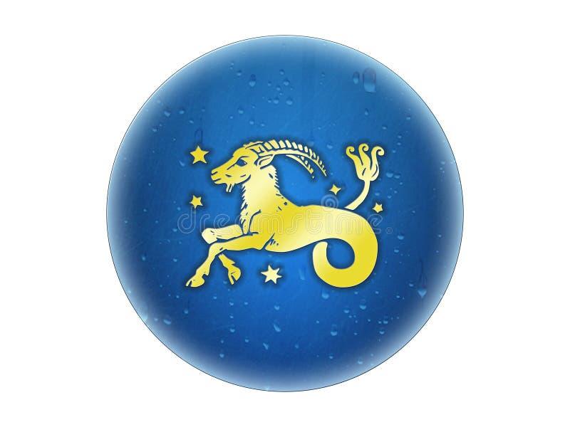 Capricorn - segno dorato dello zodiaco royalty illustrazione gratis