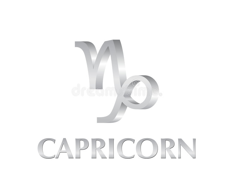 Capricorn sign stock illustration