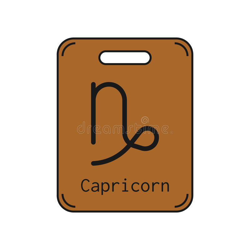 Capricorn Sign Of The Zodiac Flat Symbol Horoscope And Predictions