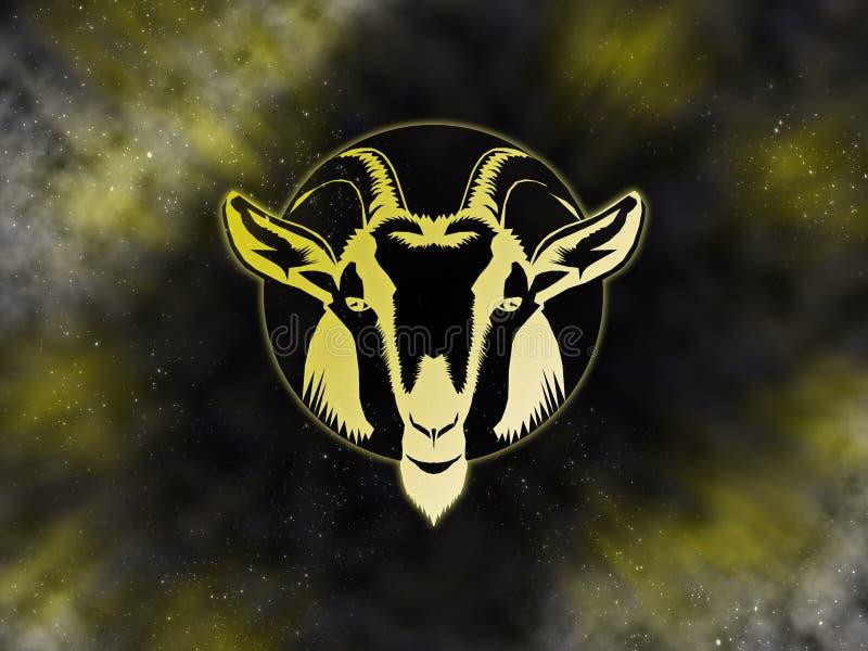 Capricorn Starfield dello zodiaco royalty illustrazione gratis