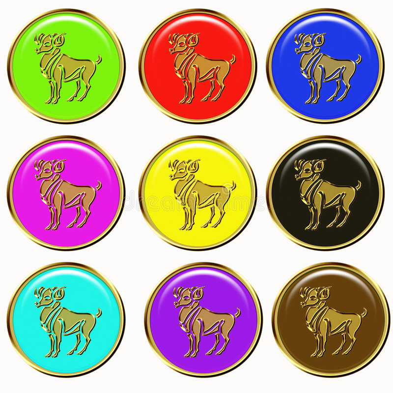 Download Capricorn zodiac signs stock illustration. Image of icons - 6921419
