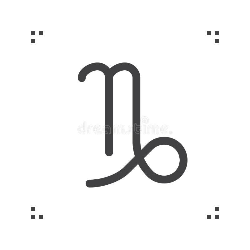 Capricorn Zodiac Vector Sign Horoscope Symbol Astrology Line I