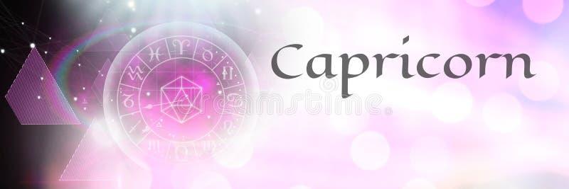 Capricorn zodiaka mistyczna astrologia royalty ilustracja