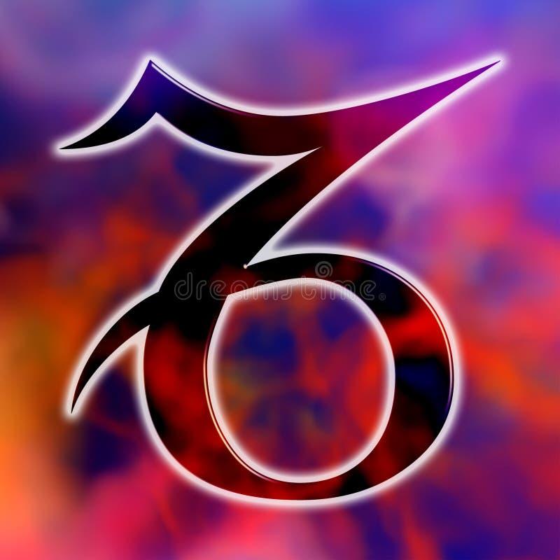 Capricorne astrologique de signe illustration de vecteur