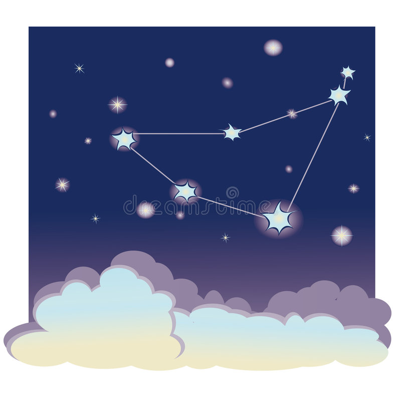 Capricorne de constellation illustration libre de droits
