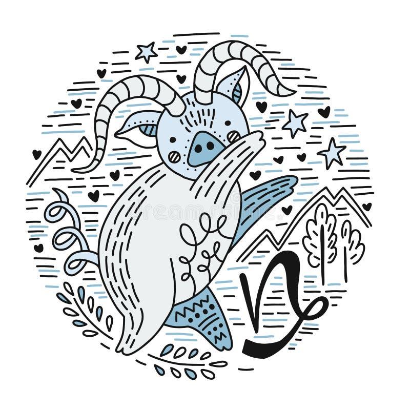 Capricorne de Signes de zodiaque illustration libre de droits