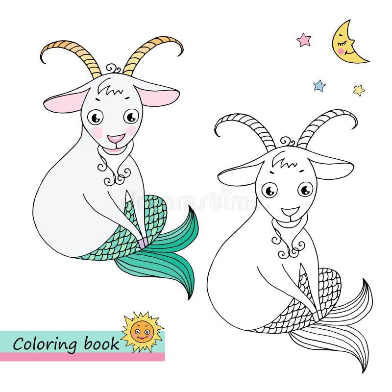 Capricornio de la muestra del zodiaco libre illustration