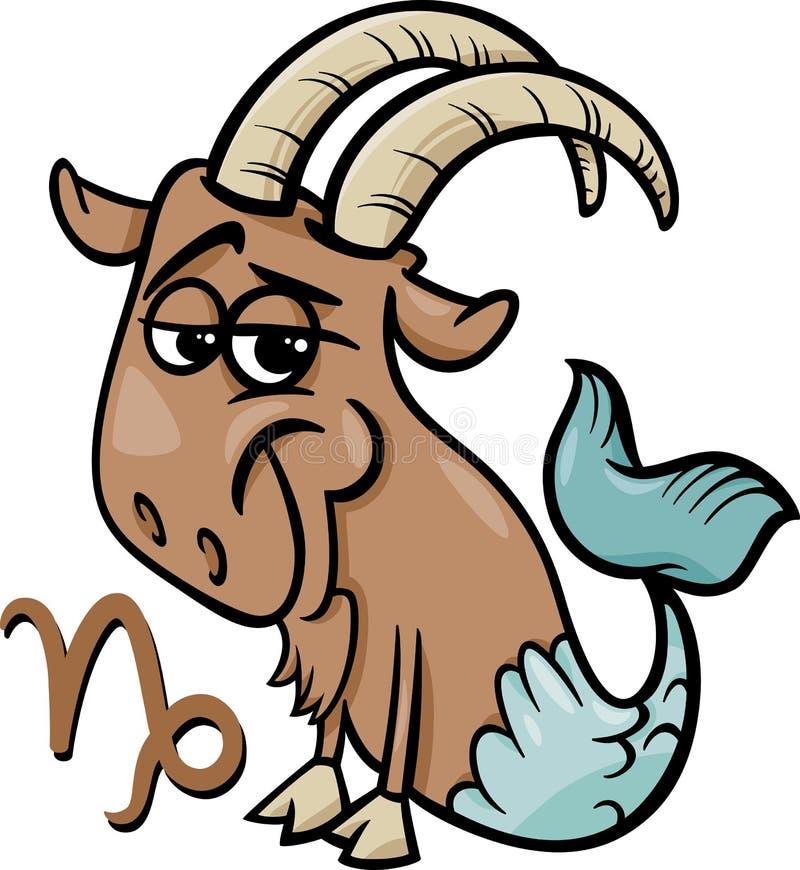 Capricornio o la muestra del zodiaco de la cabra del mar ilustración del vector