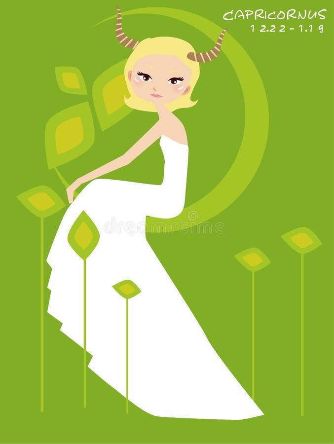 capricornus невесты иллюстрация вектора
