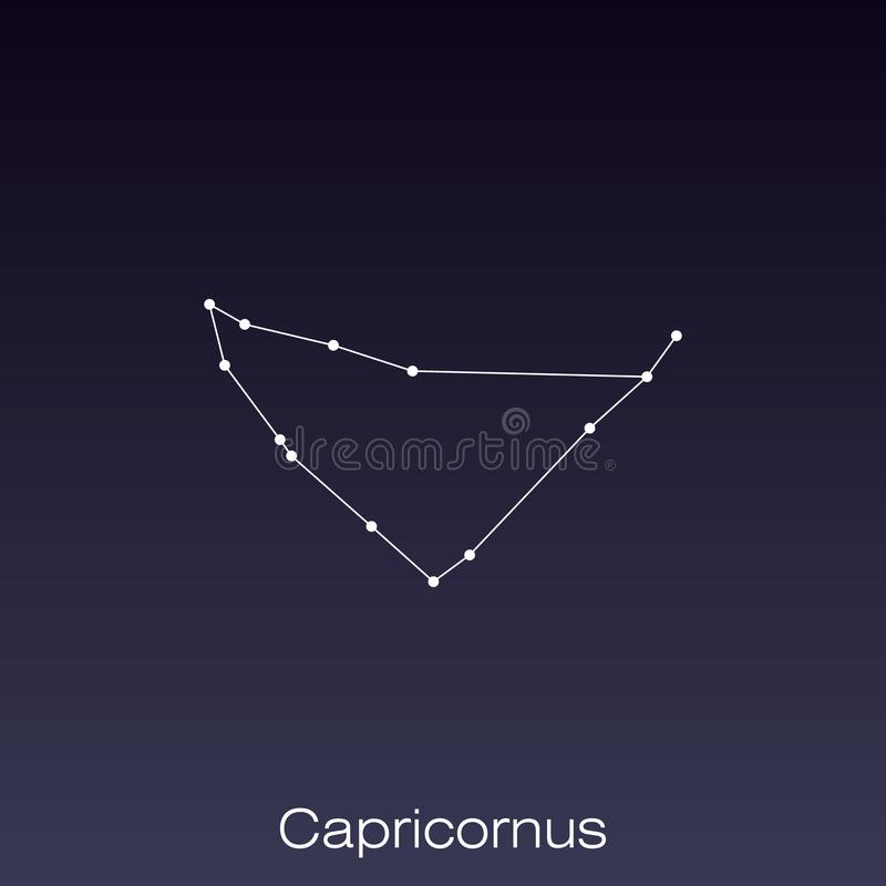 Constellation as it can be seen by the naked eye. Capricornus constellation as it can be seen by the naked eye stock illustration