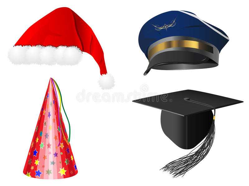 Download Caps set stock illustration. Image of graduation, claus - 21049273