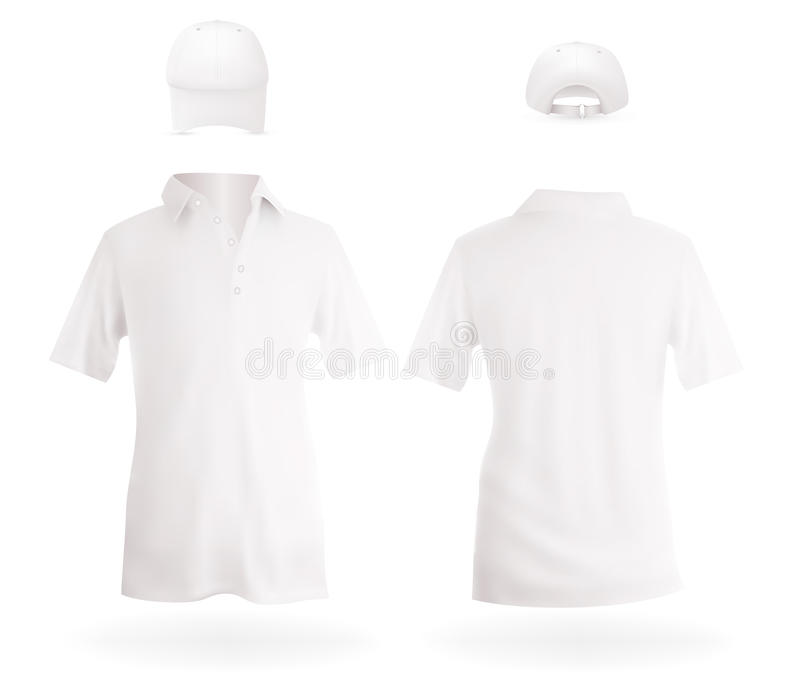 caps skjortor royaltyfri illustrationer