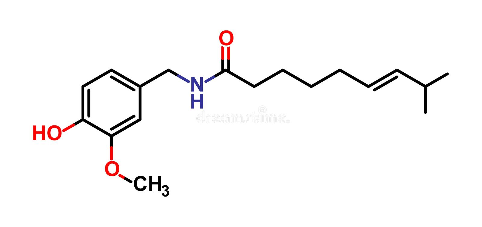 capsaicin stock illustrationer