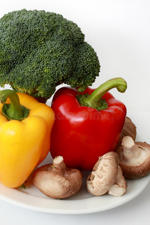 Capsicum, Broccoli And Mushrooms Royalty Free Stock Image