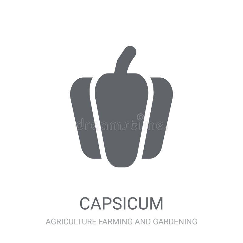 Capsicum ikona  ilustracji