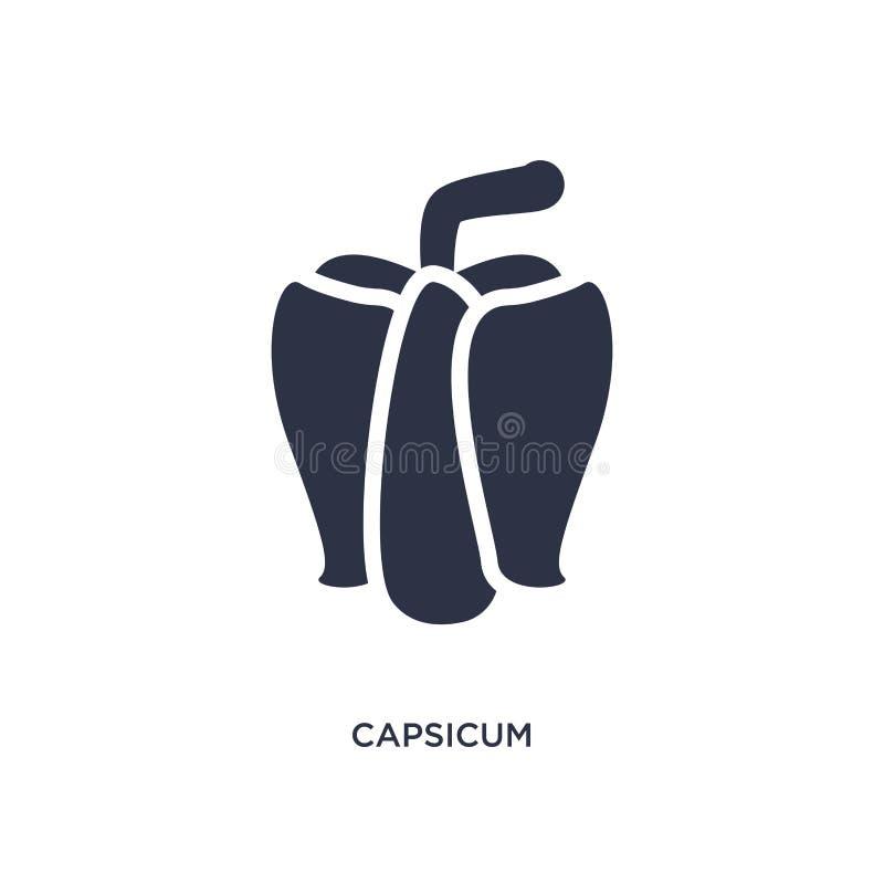 capsicum ikona na białym tle Prosta element ilustracja od rolnictwa uprawia ziemię pojęcie i uprawia ogródek ilustracji