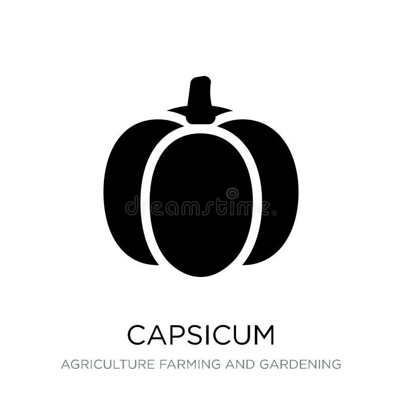 capsicum ikona w modnym projekta stylu capsicum ikona odizolowywająca na białym tle capsicum wektorowej ikony prosty i nowożytny  royalty ilustracja