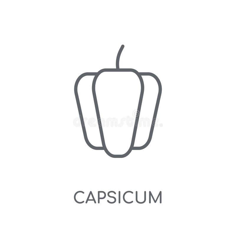 Capsicum liniowa ikona Nowożytny konturu Capsicum logo pojęcie na wh royalty ilustracja
