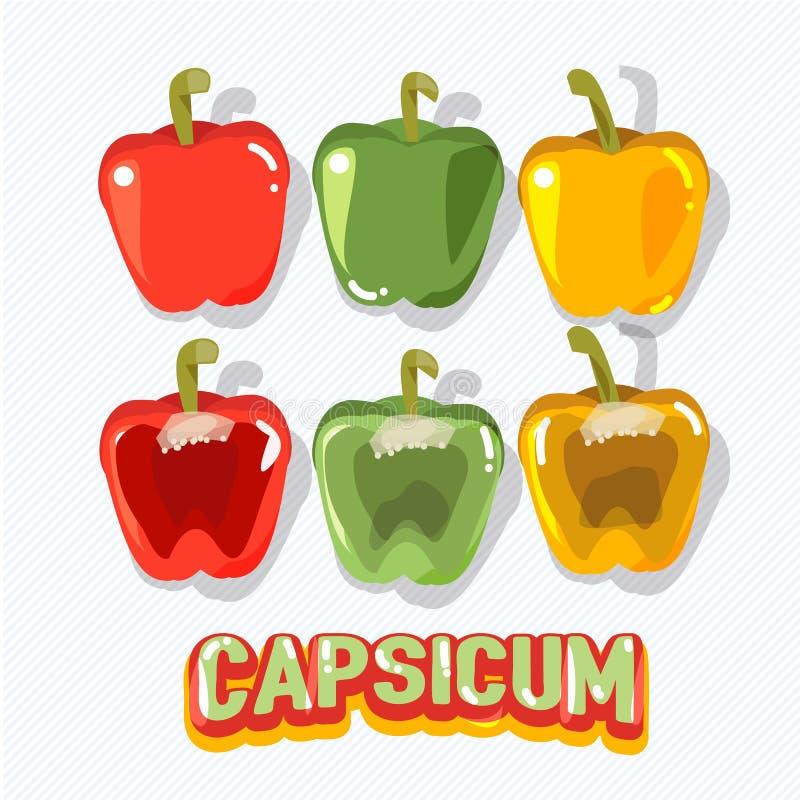 Capsicum owoc - ilustracji