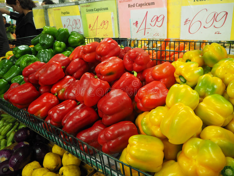 Capsicum sweet peppers, Chilli. Vegetable royalty free stock images