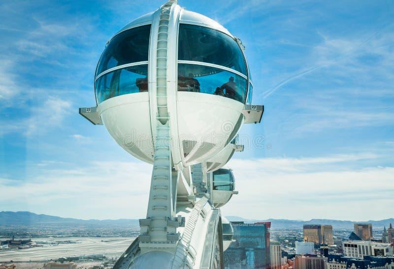 Capsula Las Vegas Nevada della ruota di osservazione del dissoluto fotografia stock libera da diritti