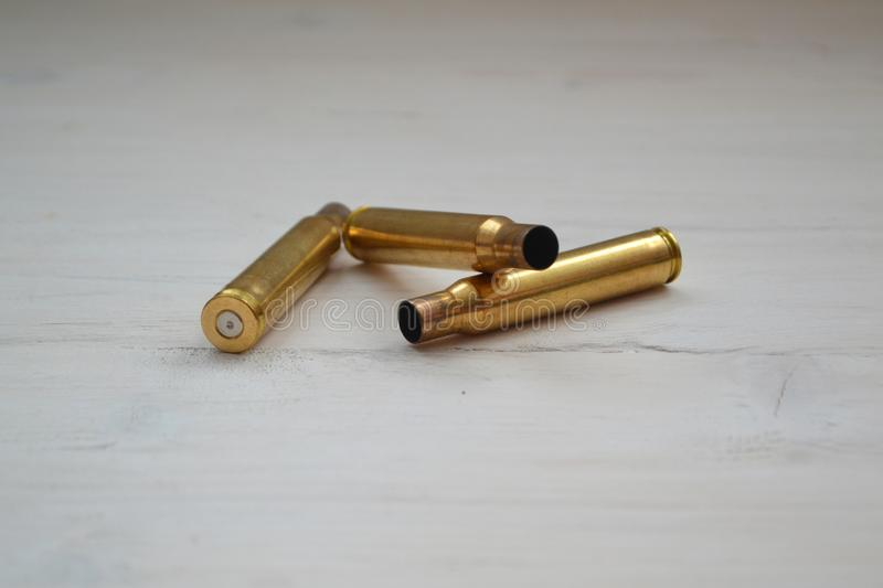 Capsular part of the combat cartridge, large bullet royalty free stock image