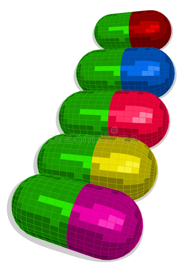 Download Capsule illustrazione vettoriale. Illustrazione di sostanza - 7314402