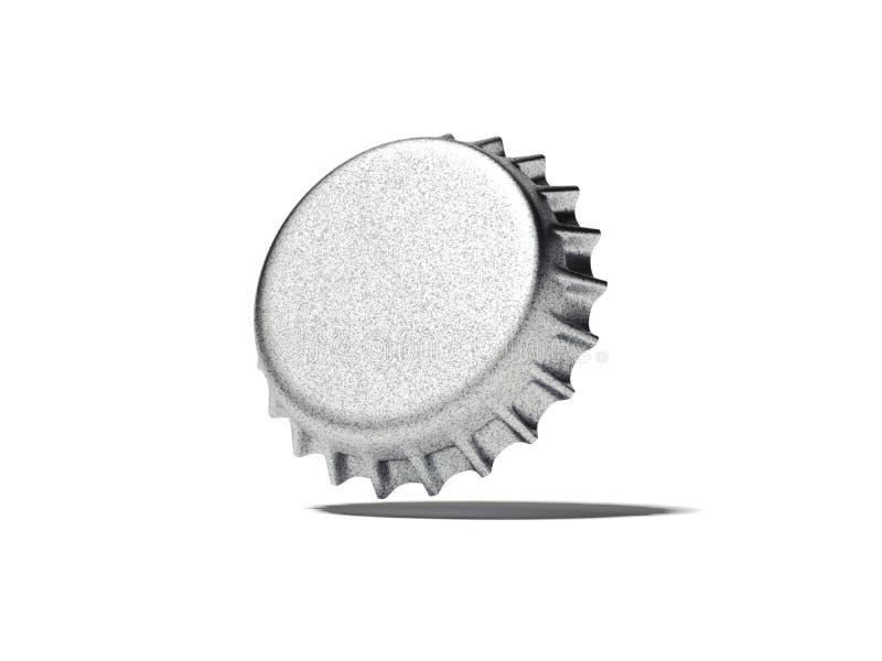 Capsule argentée rendu 3d illustration stock