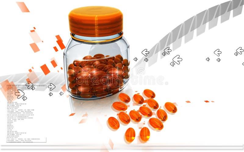 Capsule bottle stock illustration