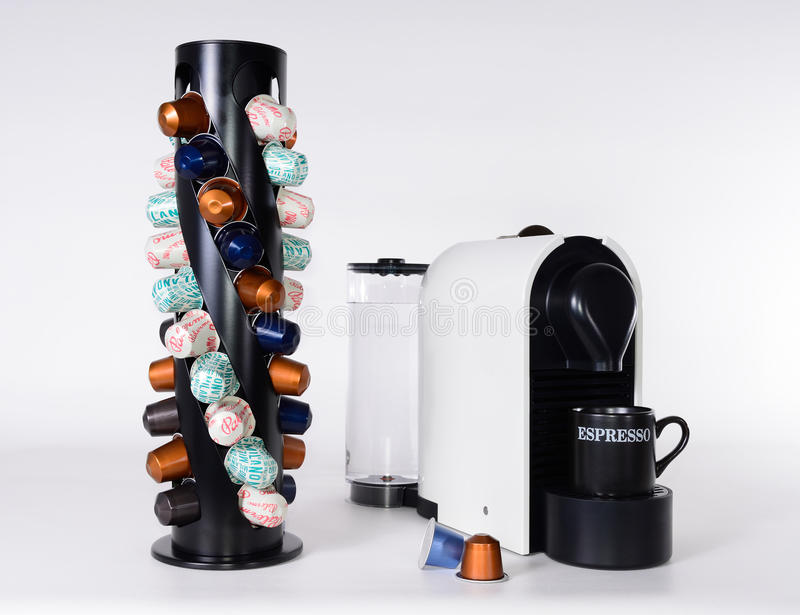 A capsule coffee machine stock photos