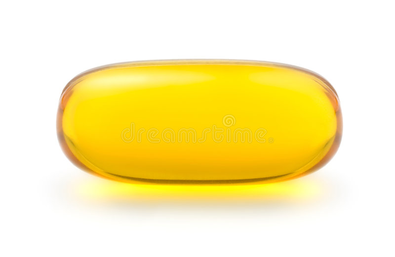 Capsule de gel de vitamine photographie stock libre de droits