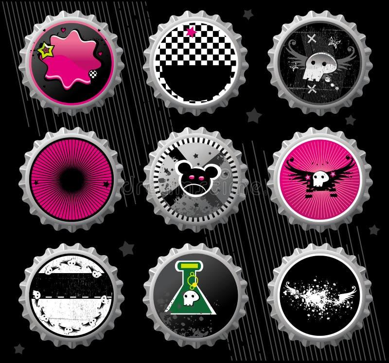Capsule di Emo. illustrazione di stock