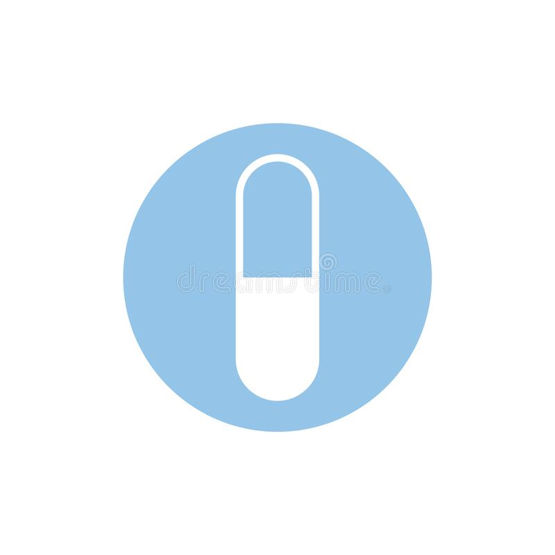 Free Capsule Pill Icon. Tablet Symbol. Medical Design Element. Healthcare Concept. Vector Illustration Stock Photo - 172138970