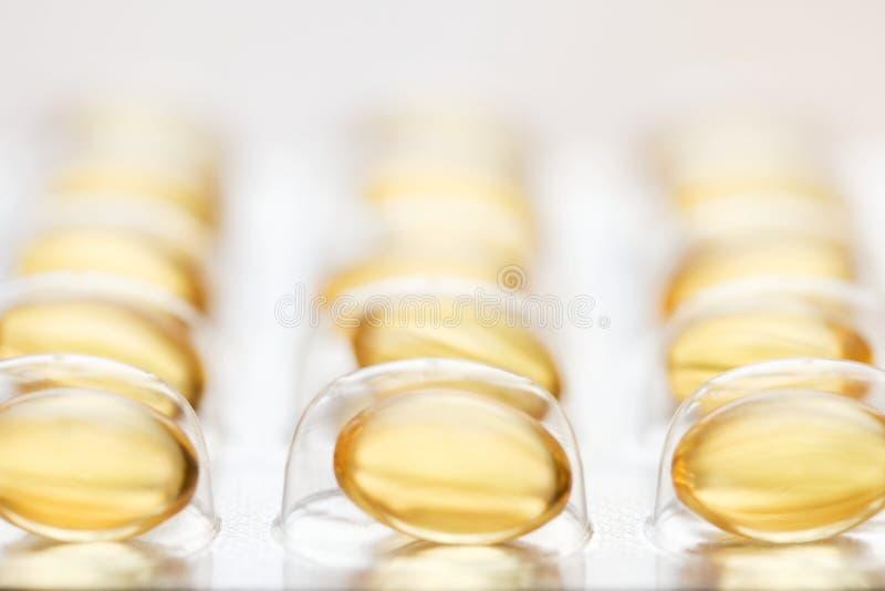 capsules рыбий жир стоковая фотография