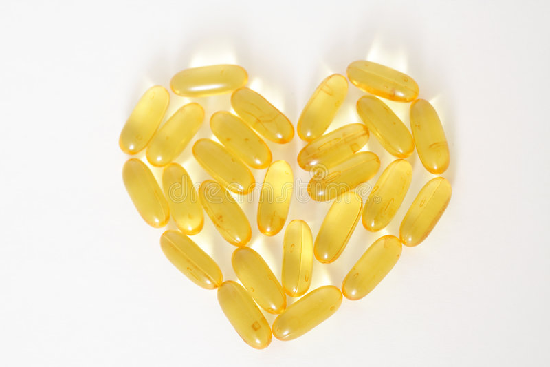 capsules рыбий жир стоковые изображения
