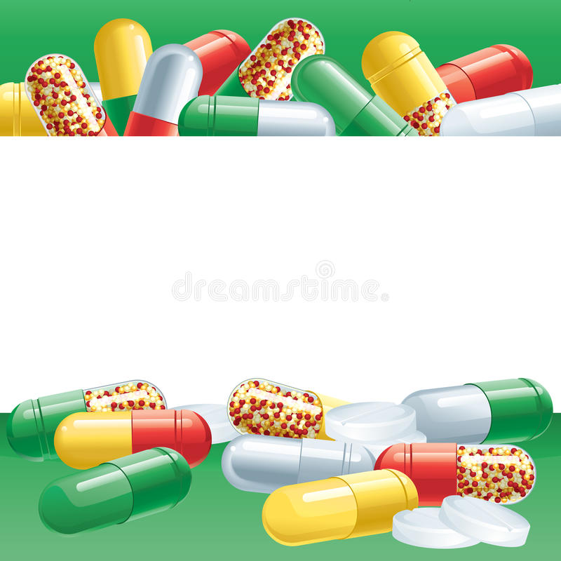 Capsules illustration de vecteur