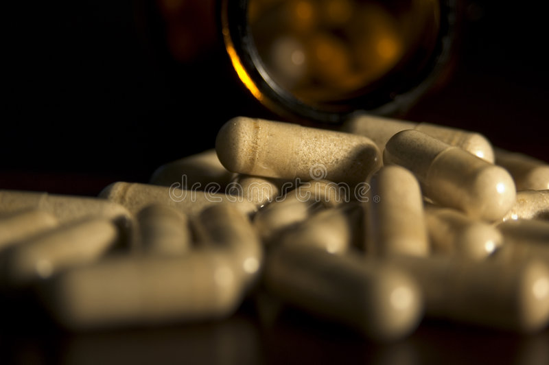 Download Capsules close up stock image. Image of drug, bottle, health - 87419