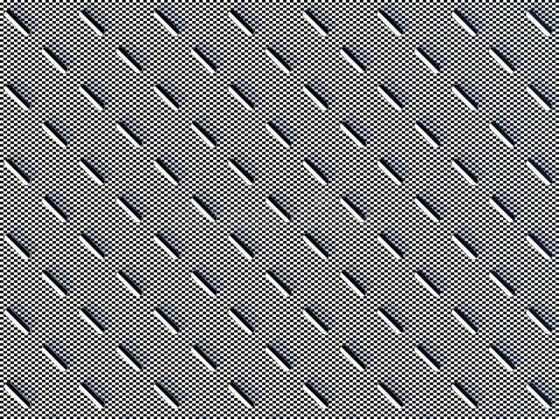 Capsules colorées noires et blanches sur le fond carrelé noir et blanc, symétriquement disposé l'un à côté de l'autre illustration stock