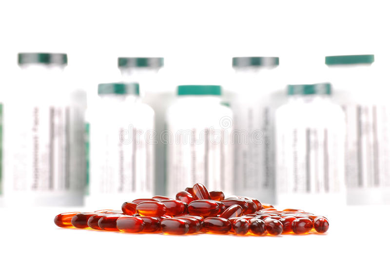 Download Capsules Of Dietary Supplements And Containers Stock Photo - Image: 17655878